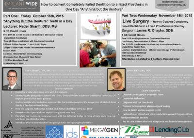 """How to Convert Completely Failed Dentition to a Fixed Prosthesis in One Day """"Anything but the Denture"""""""