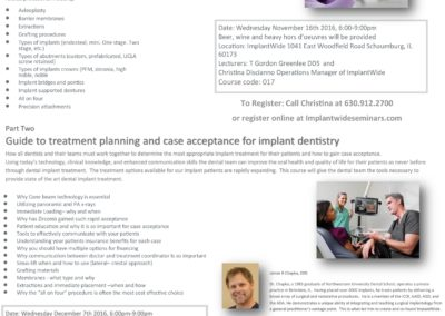 Two Part Series On Effectively Treatment Planning Implant Dentistry and Gaining Case Acceptance