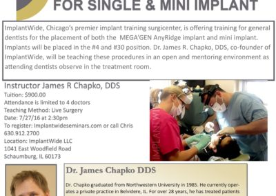 LIVE HANDS ON TRAINING FOR SINGLE & MINI IMPLANT